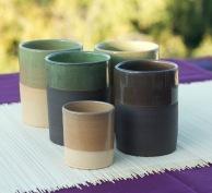 les tasses en forme cylindrique